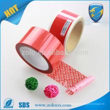 Amostras de produtos grátis fita de segurança de vinil impressa personalizada fita adesiva impermeável para selagem de adesivos em fita adesiva