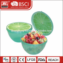 plastic bowl with fruit pattern