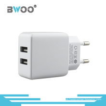 Cargador dual de la UE de la pared del USB de la alta calidad al por mayor