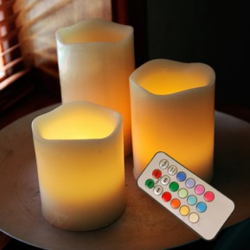 Flameless LED pillar candle