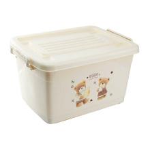 Пластиковая коробка для хранения мультфильмов с колесами