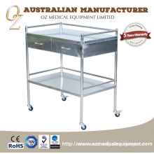 Hospital Emergency Medical Trolley Clinic Instrument Cart Trolley Emergency Trolley Equipment