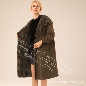 Winter Reversible Women Spain Merino Shearling Coat Women
