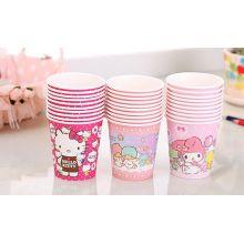 Coloridos olá kity festa copos para copos de papel bebida fria
