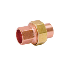 Copper Union Copper Coupling with Brass Nut