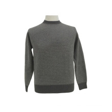 Yak Wool/Cashmere Round Neck Pullover Long Sleeve Sweater