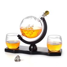 Unique Fancy Vodka Whiskey Wine Glass Decanter Set