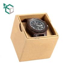Marbre motif logo impression cadeau papier boîte boîte de montre avec couvercle
