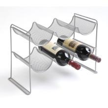 Porta botella de vino de malla metálica