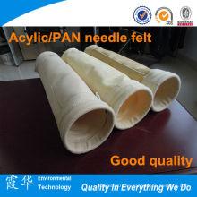 Fibra de aramida / FMS / fibra de vidrio no tejida bolsa de filtro de polvo de fieltro de aguja