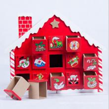 Maison mignonne en bois de décoration environnementale de Noël pour le cadeau de Noël