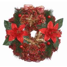 Искусственные горячие продажи рождественские венки из сосновых шишек