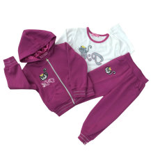 Sudaderas con capucha de algodón de moda de ocio en niños Ropa de deporte con trajes Swg-108