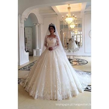 Vestido de casamento muçulmano de Dubai