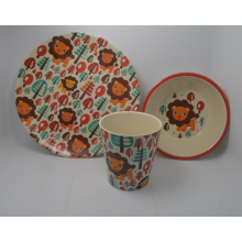(BC-CS1063) Bamboo Fiber Kids Dinner Set