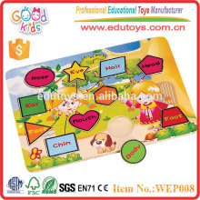 OEM Passed Colorful and Fashion Design Plywood Kids Puzzle