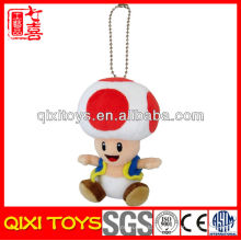 "Super Mario Toad 5 ""Mochila Plush Keychain Toy para Presente"