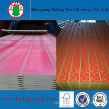 Colorful Melamine Faced Slot MDF Board with with Aluminium Strips