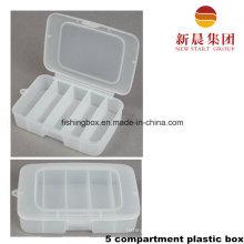 5 Vettical Compartment Plastic Storage Box