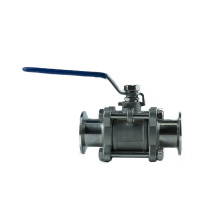 China Factory Good Quality mountable Stainless Steel  3 piece sanitary Ball Valve