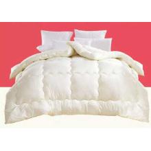 Colcha de algodón 100% de color blanco
