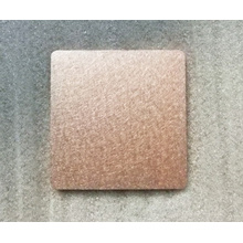 Shining Copper Square Coin with Grained Treatment