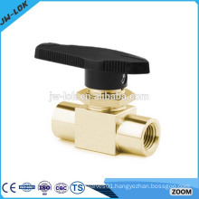 Compression one-piece floating brass gas ball valve