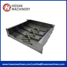 Bouclier protecteur de soufflet de glissière de glissière en métal de machine résistante