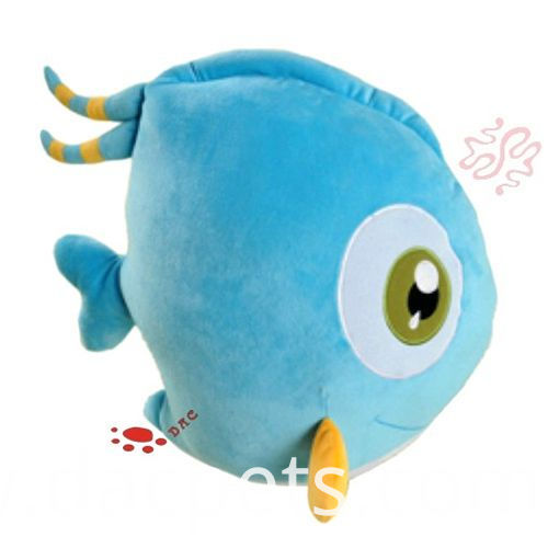 blue fish cushion