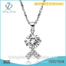 Novo design jóias linda jóia colar de corrente de diamante para as mulheres