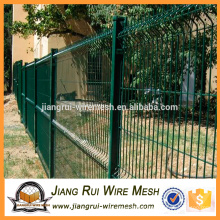 welded curved fence/plastic coated 3D fence panel