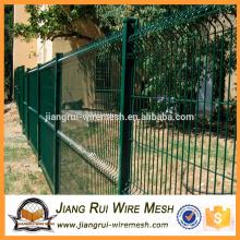 Сварная изогнутая заборная панель с пластиковым покрытием