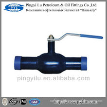 St37 válvula de bola soldada hecha en china para la subestación de la calefacción