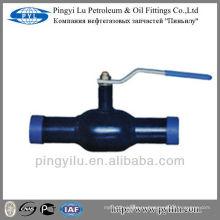 St37 сварной шаровой кран, изготовленный в Китае для отопительной подстанции