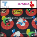 looney tunes collection cartoon charactor printing cotton satin light weight silk feeling fabric for nighty