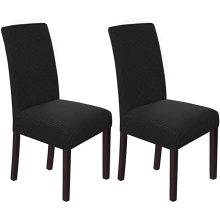 Home Textiles Chair Slipcovers Indoor Black Twill Stretch Dining Chair Covers Set