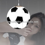 New products E27 handmade football shape glass pendant light for home