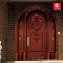 new mahogany door arched entry door design wood entry door                                                                         Quality Choice
