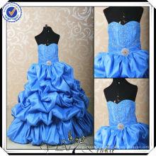 FF0009 a mais linda garota de flores vestida menina de flor inchada vestimenta azul real