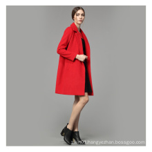 Long Women Winter Heavy Wool Coat with Buttons