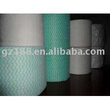 волнистые спанлейс нетканые ткани/счетчик ткань