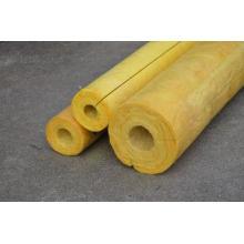 High Temp Glass Wool Pipe Insulation , Yellow Glasswool Pip