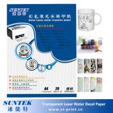 Láser transparente agua etiqueta A4 A3 tamaño del papel disponible