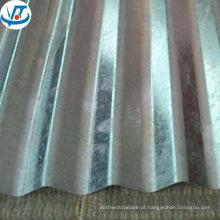 Chapa de aço ondulada do telhado de 22 calibres / bobina galvanizada da placa de aço