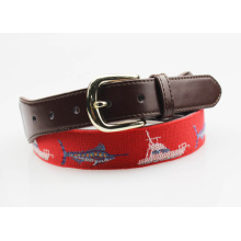 TOP3 genuine leather needlepoint belt