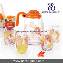 Ensemble de citron de verre 7PCS populaire avec impression