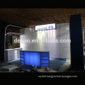 10x20 feet tension fabric exhibition booth 3x6, arch style and three sides open booth space 10x20