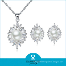 2015 White Pearl Silver Jewellery Set for Promotion (J-0076)