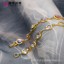 Xuping moda 14k oro de color sintético CZ pulsera (73588)
