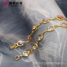 Xuping moda 14k ouro pulseira de cor sintética CZ (73588)